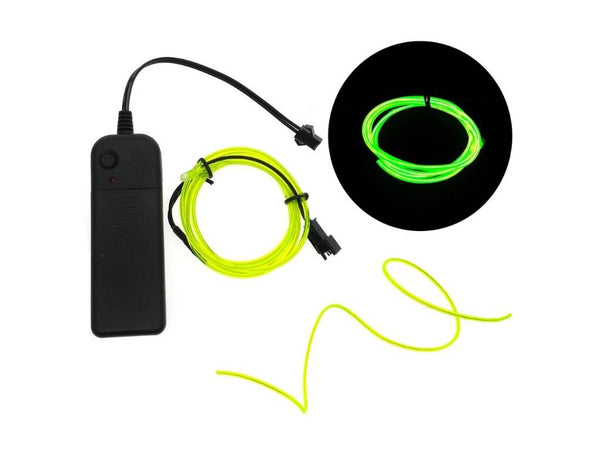 Neon LED Light Wires- Electroluminiscent EL Wires (3 meters)The Jholmaal Store