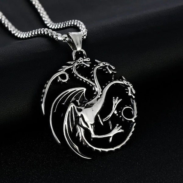GOT 3 Dragons Targeryan Necklace