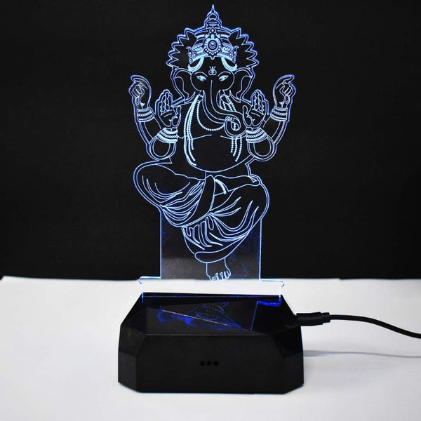 Lord Ganesh Night Lamp Hologram (7 Colors)