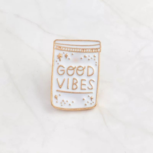 Good Vibes Lapel Pin Badge