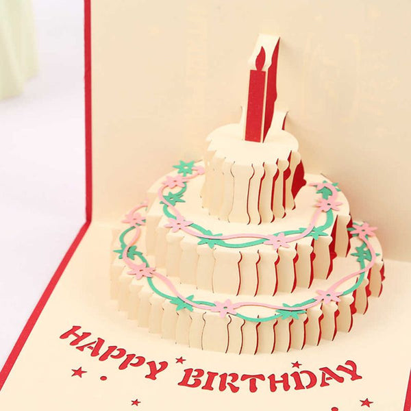 3D Cake Happy Birthday Pop up Card (Greeting card)
