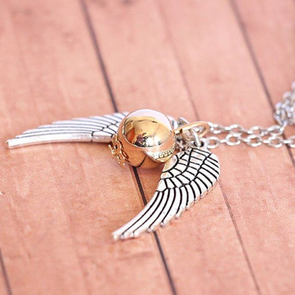 Time Turner & Snitch Necklace Set