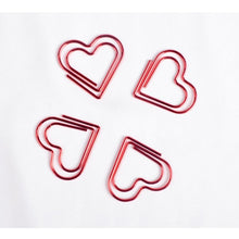 Load image into Gallery viewer, Heart Shaped Paper Clip Set Of 10