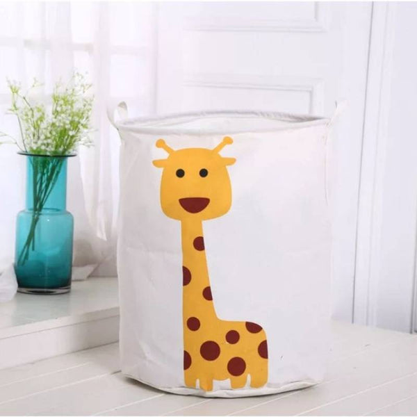 Giraffe Print Folding Laundry Basket