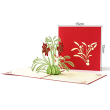 Load image into Gallery viewer, Lily Flower Pop Up Card (Greeting Card)