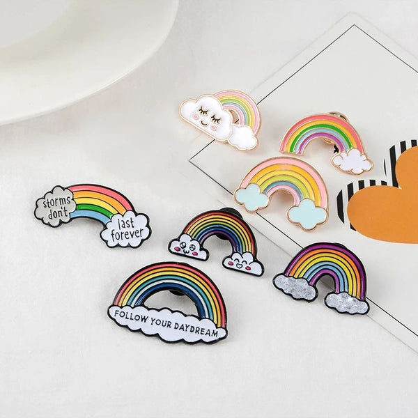 Magic Rainbow Lapel Pin Badge