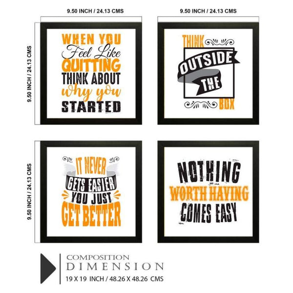 Motivational Quotes Photo Frames (Set of 4)