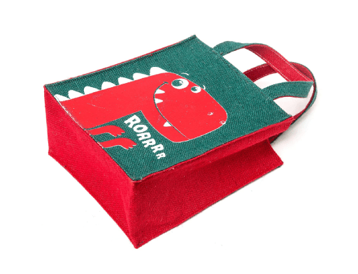Cute Printed Jute Bag (Small)