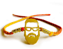 Load image into Gallery viewer, Beard Bhai - Modern Rakhi Gold Plated