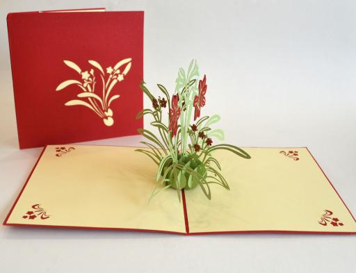 Lily Flower Pop Up Card (Greeting Card)The Jholmaal Store
