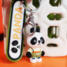 Load image into Gallery viewer, Panda Skateboarding Keychain (1pc)