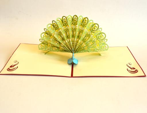 3D Peacock Popup Card (Greeting Card)The Jholmaal Store