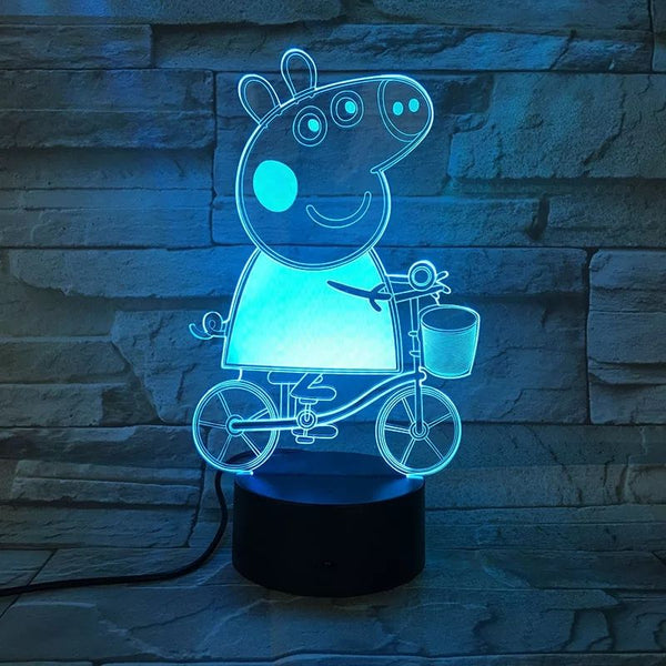 Peppa Pig DSLR Night Lamp Hologram (7 colors)