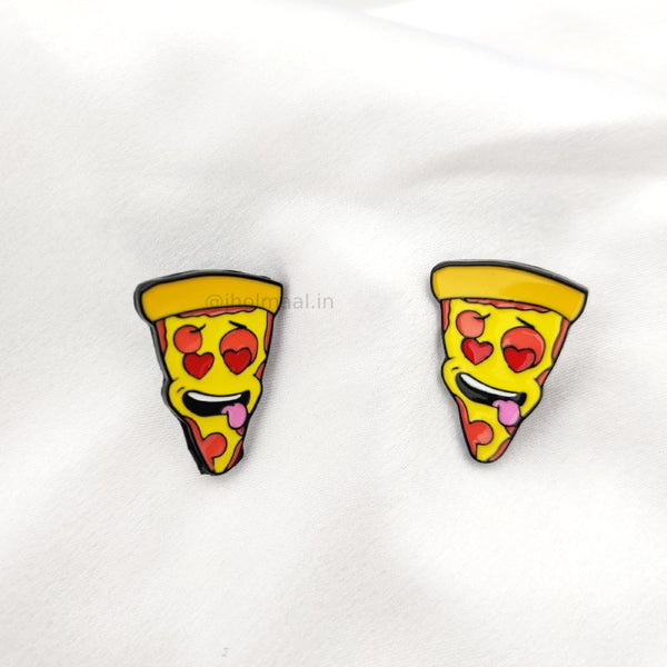 Single Pizza Lapel Pin Badge