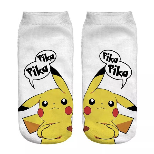 Pokemon short socks -Pikachu, Charmander, Bulbasaur, Squirtle