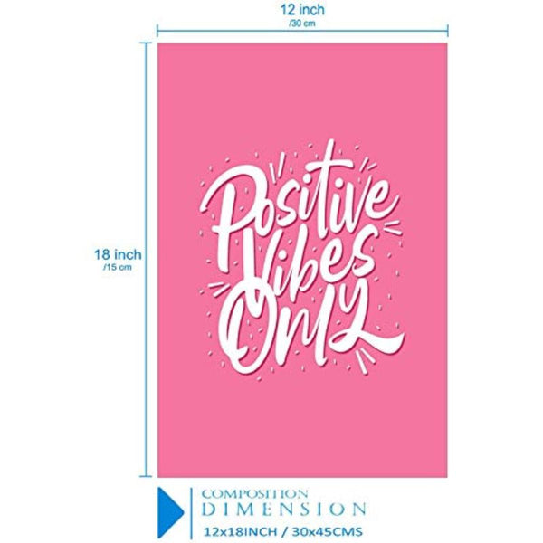 Positive Vibes Only Poster (Pink)