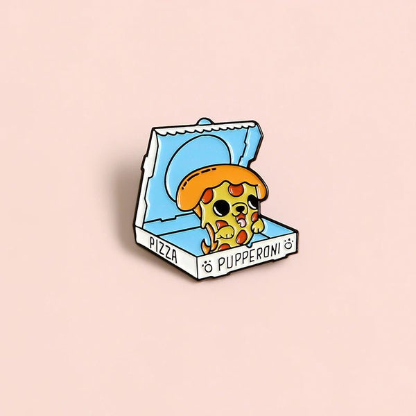 Pupperoni Lapel Pin Badge