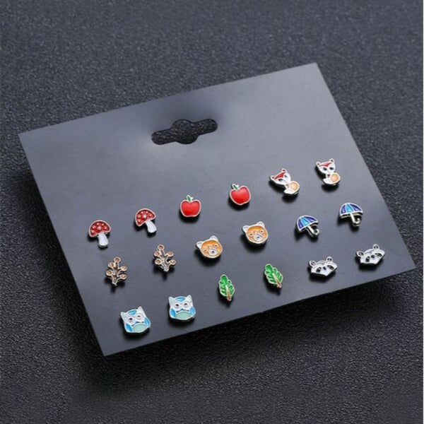 Quirky Earrings Set of 9