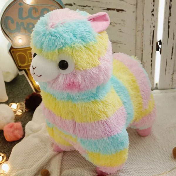 3D Alpaca Rainbow Plush Soft Toy (20cm)