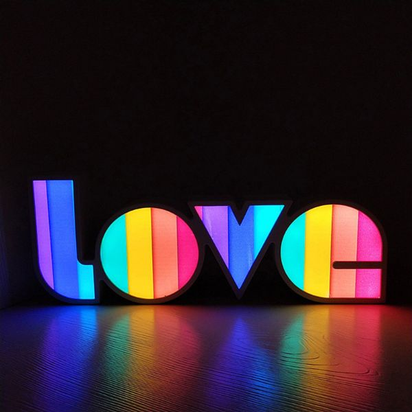 Rainbow Neon Love Lamp