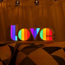 Load image into Gallery viewer, Rainbow Neon Love Lamp