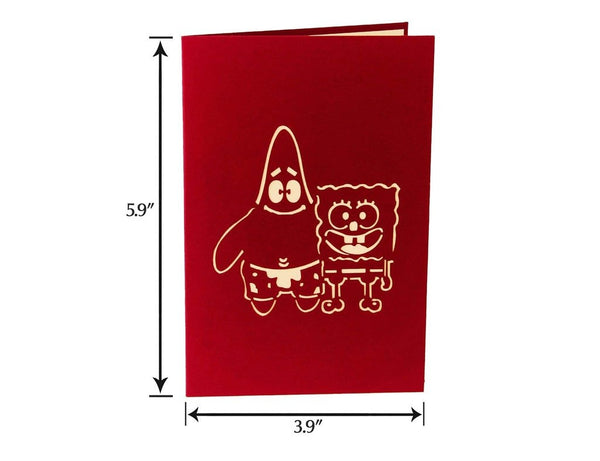 Spongebob & Patrick 3D Pop Up Card (Greeting Card)The Jholmaal Store
