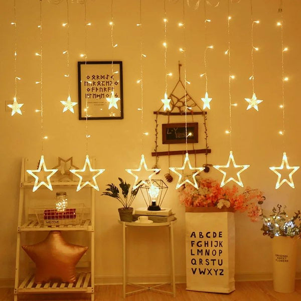 Stars & Moons LED Curtain (Warm White)