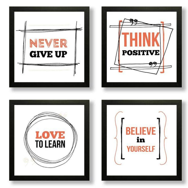 Success Quotes Photo Frames (Set of 4)