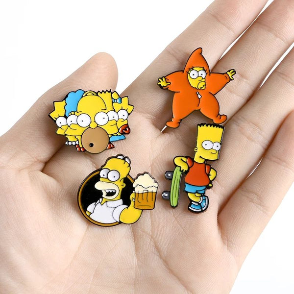 Simpsons Inspired Lapel Pin Badge