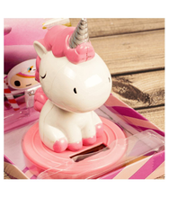 Load image into Gallery viewer, Unicorn Bobblehead Solar Powered