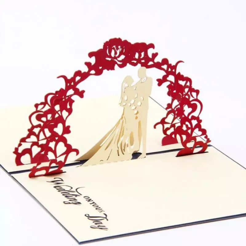 Couple Wedding Pop Up Card (Greeting Card)