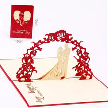 Load image into Gallery viewer, Couple Wedding Pop Up Card (Greeting Card)