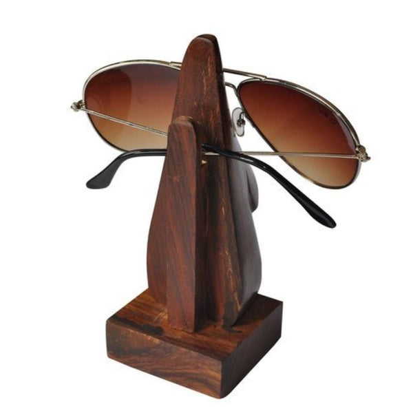 Handcrafted Wooden Specs Stand