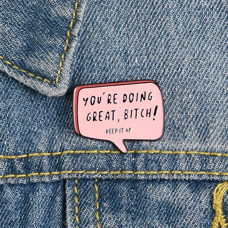 You're Doing Great Lapel Pin Badge