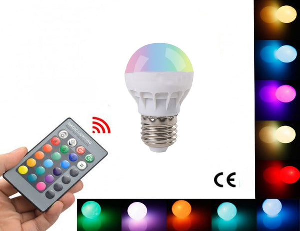 Multicolor LED Smart Bulb with Remote ControlThe Jholmaal Store