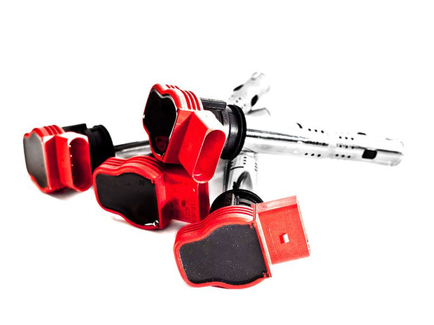 OEM Red Audi R8 Coilpack, fits 2.0T FSI/TSI, 1.8T/2.7T with Adapters