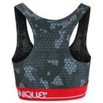 GMB Black/Gray Camo Customized Sports Bra