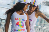GMB Women's Rainbow Logo Customized Tanks