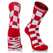 GMB Fire Red Customized Block Style Sport Socks