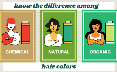 Know the Difference Among Chemical, Natural, & Organic Hair Color