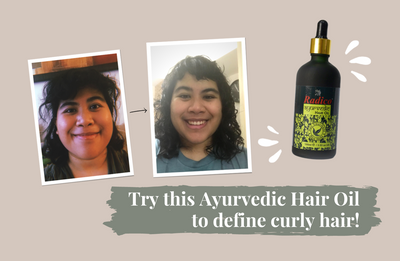 Try this Ayurvedic Hair Oil to define curly hair