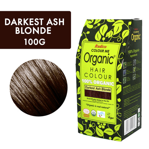 RADICO ORGANIC HAIR COLOUR Darkest Ash Blonde