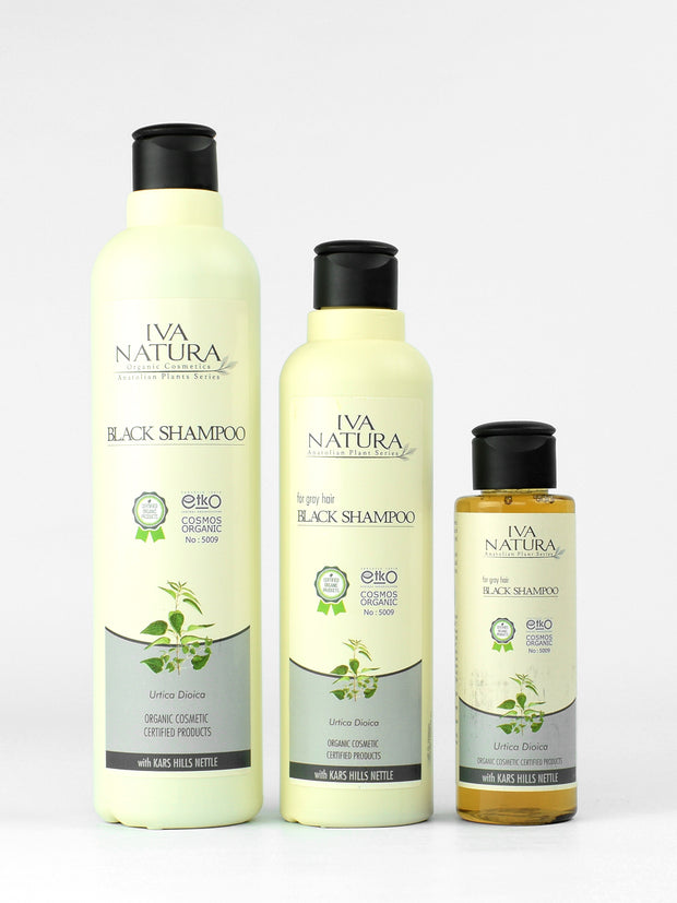 IVA NATURA Anti Gray Black Shampoo