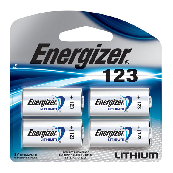 Energizer, 123A Batteries, 4 Pack - Probst Camera Inc.
