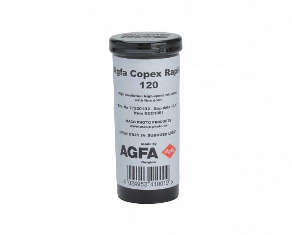 Agfa Copex Rapid 50, Black and White Film, 120 - Probst Camera Inc.