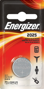 Energizer MAX, CR-2025 Battery, 1 Pack - Probst Camera Inc.