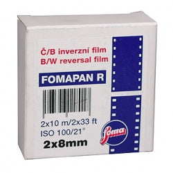 Fomapan R100, Black and White Reversal Film, Standard 8mm - Probst Camera Inc.