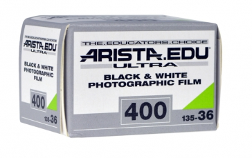 Arista.EDU Ultra 400, Black and White Film, 35mm - 36exp. - Probst Camera Inc.