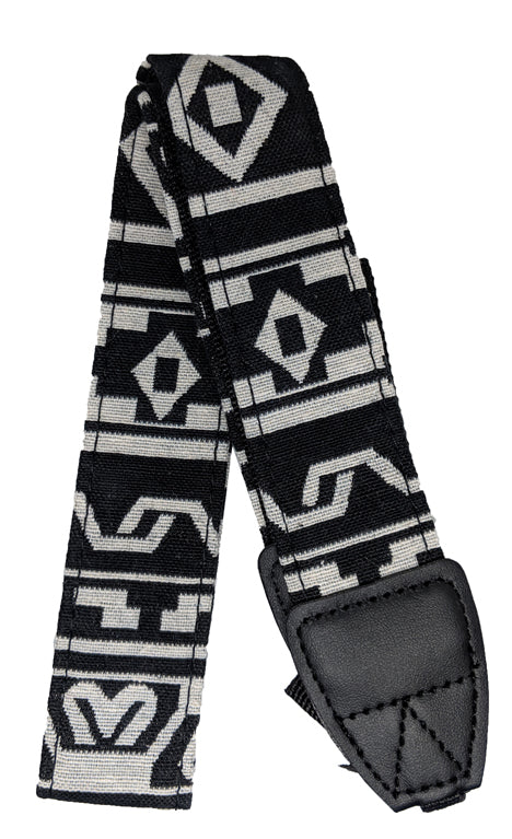 Camera Strap, White and Black Patterned - Probst Camera Inc.