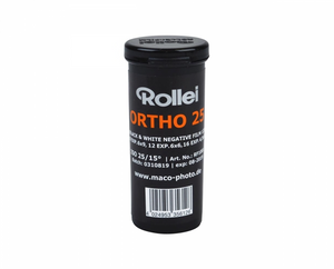 Rollei Ortho 25 Plus, Black and White Film, 120 - Probst Camera Inc.